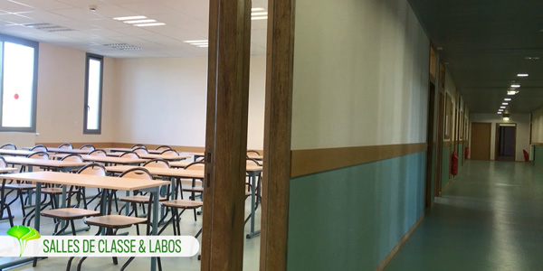 Salles de classe et laboratoires