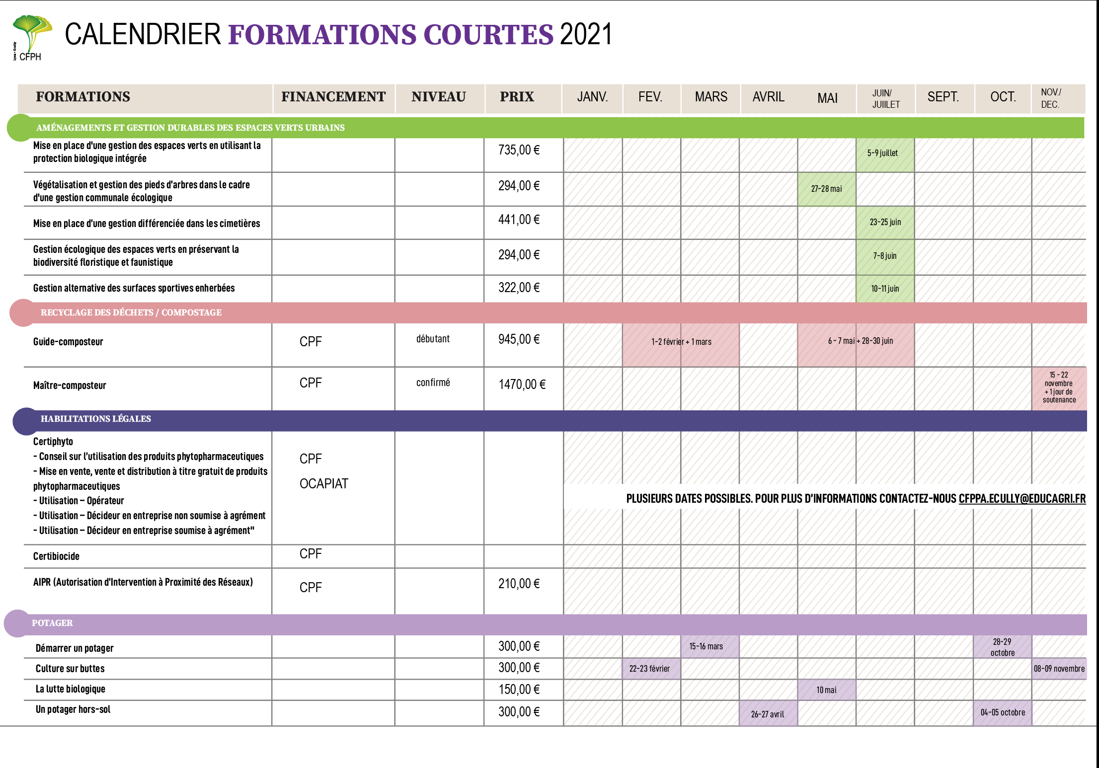Calendrier FPC